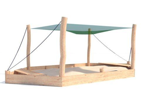 Песочница-лодка