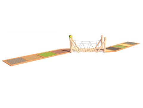 Тактильная дорожка с мостиком