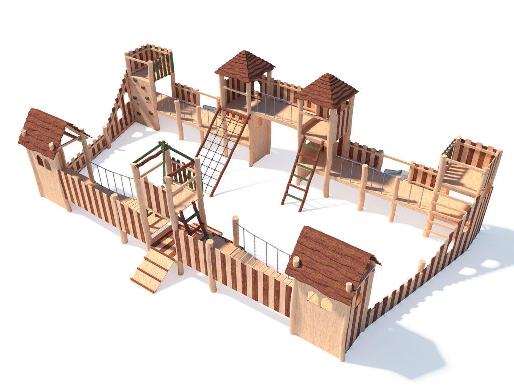 деревянный городок
